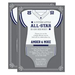 Sports  Invitation, Football, Blue Gray