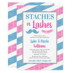 Staches or Lashes Gender Reveal Party
