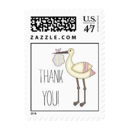 Stork  Thank You Postage Pink