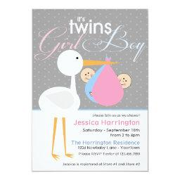 Stork Boy/Girl Twin Bundle