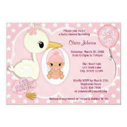 Stork Delivery baby shower  GIRL PINK 1B