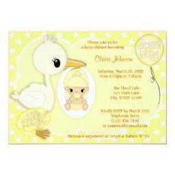 Stork Delivery baby shower  YELLOW 4A