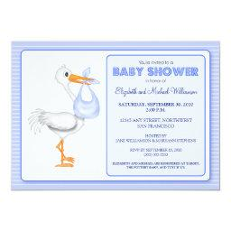 Stork's Arrival Baby Shower  (blue)