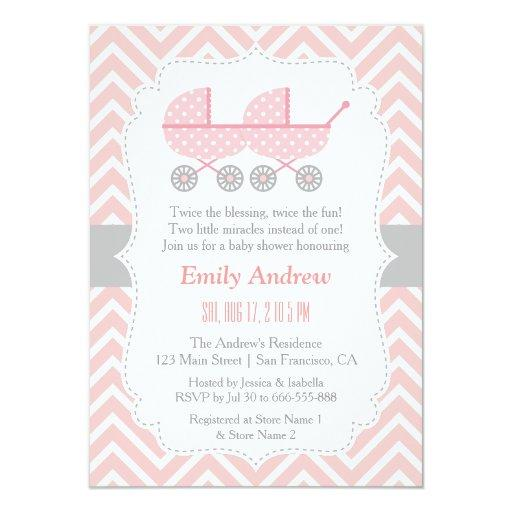 twin baby shower invitations | babyshowerinvitations4u,
