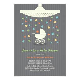 Stylish Neutral Baby Shower Colorful