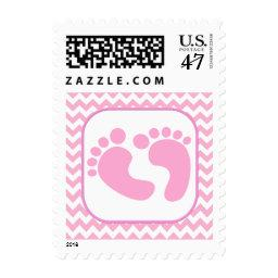 Stylish Pink Foot Prints  Stamp