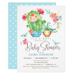 Succulents Baby Shower, Boy
