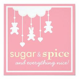 Sugar & Spice Girl Baby Shower