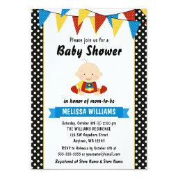 Superhero Polka Dot Bunting Baby Shower
