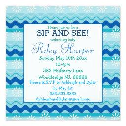 Surf 'N Sun Nautical Baby Sip and See