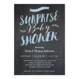 Surprise Baby Shower  - Chalkboard Blue