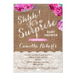 Surprise Baby Shower or Party Invitation