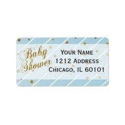 Sweet Baby Boy Blue & Gold Confetti |  Label