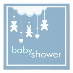 Sweet Baby Boy Blue Mobile Baby Shower