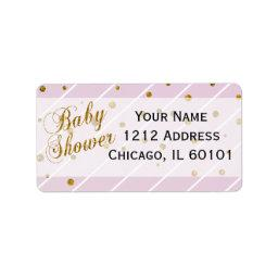 Sweet Baby Girl Pink & Gold Confetti |  Label