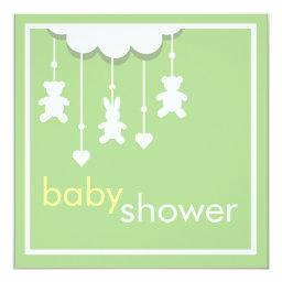 Sweet Baby Green Mobile Baby Shower