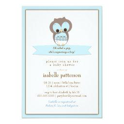 Sweet Baby Owl It's a Boy Baby Shower