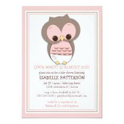 Sweet Baby Owl It's a Girl Baby Shower