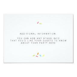 Sweet Baby Sprinkle Insert Card