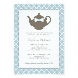 Sweet Blue | Brown Teapot  Tea Party