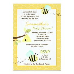 Sweet Bumble Bee Mommy to Bee  Invite