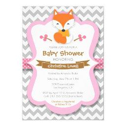 Sweet Fox Pink Baby Shower