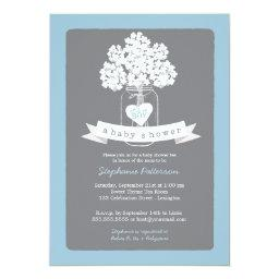 Sweet Mason Jar Blue | Gray Baby Shower