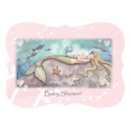 Sweet Mother and Baby Mermaid  Invites