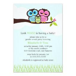 Sweet Owls Gender Reveal Party