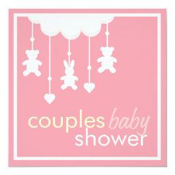 Sweet Pink Couples Baby Shower
