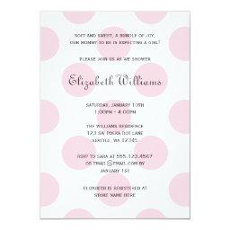Sweet Pink Polka Dots Baby Girl Shower