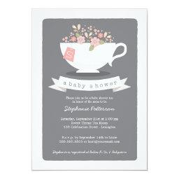 Sweet Teacup & Pink Floral Baby Shower