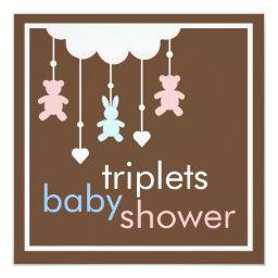 Sweet Triplets Mobile Baby Shower