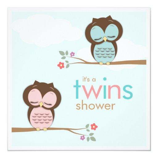 Sweet Twins Owls Boy Girl
