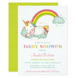 Sweet Unicorn Baby Shower  Rainbow