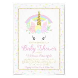 Sweet Unicorn Rainbow Baby Girl Shower