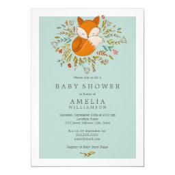 Sweet Woodland Fox Baby Shower