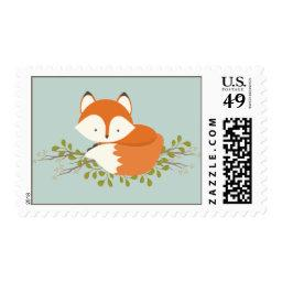 Sweet Woodland Fox Nature  Stamp