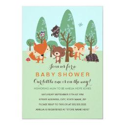 Sweet Woodland Friends  Invite