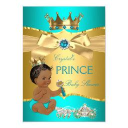Teal Blue Gold Prince  Ethnic