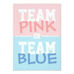 Team Pink or Team Blue Baby Gender Reveal Party