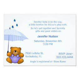 Teddy Bear Baby Boy Sprinkle Shower