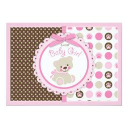 Teddy Bear Baby Girl  Pink