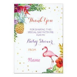 Thank You Baby Shower Flamingo Aloha Luau