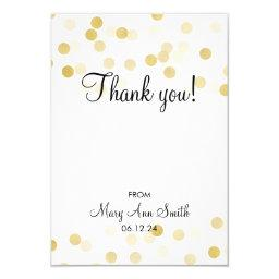 Thank You Baby Shower Gold Foil Glitter Lights