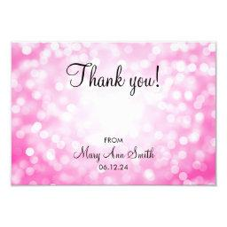 Thank You Baby Shower Pink Glitter Lights
