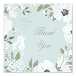 Thank You | Bunny Floral Wreath Boy