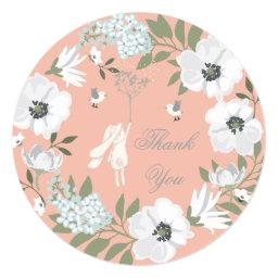 Thank You Bunny Floral Wreath Girl