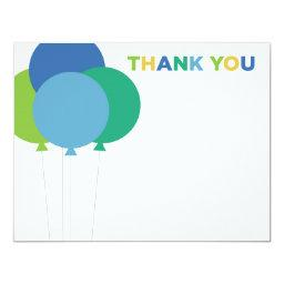 Thank You Note  | Blue Green Balloons