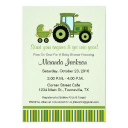 Tractor Baby Shower  green